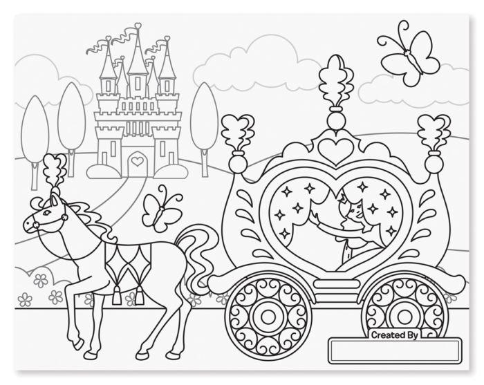 Melissa & Doug Jumbo Colouring Pad Princess & Fairy