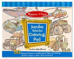 Melissa & Doug Jumbo Colouring Pad Vehicles