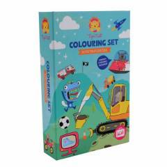 Tiger Tribe Colouring Set Boys Favourites