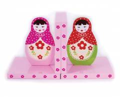 Russian Babushka Dolls Wooden Bookends