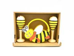 Wooden Bee Maraca & Tambourine Music Set