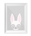 Sleepy Eyes Little Rabbit Print A4 Size