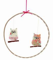 Alimrose Designs Sleepy Owl Mobile Pink