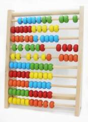 100 Beads Wooden Abacus Rainbow Color
