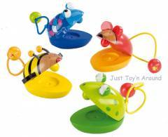 Goki Animal Castanet Frog, Mouse, Bee, Fish