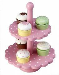 Wooden 2 Tier Cupcake Stand