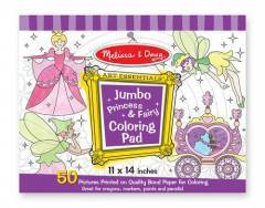 Melissa & Doug Jumbo Colouring Pad Princess & Fairy