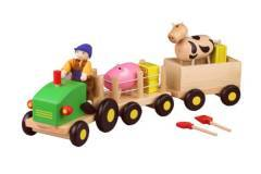 Discoveroo Farm Set with Tractor Farmer Pig & Cow