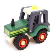 Wooden Green Tractor Vehicle