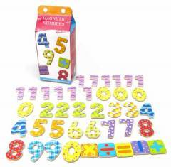 Wooden Magnetic Numbers 40pcs