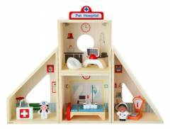 Wooden Vet Pet Hospital Play Set