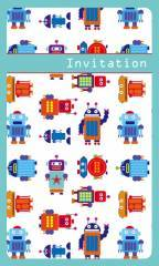 Robot Fill-In Invitation Set
