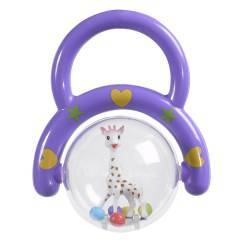 Vulli Sophie The Giraffe Hand Rattle Spinning Shaker Purple