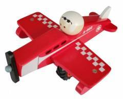 Wooden Red Airplane